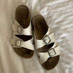Birkenstocks Betula white double strap sandals 38